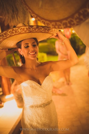 Bride with sombrero